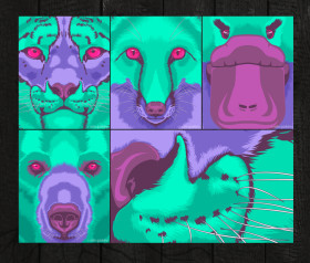 psychedelic animals